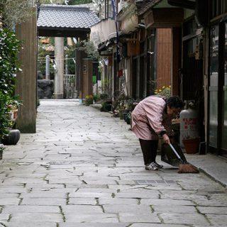 写真:青石畳通り(3)