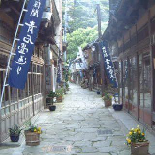 写真:青石畳通り(4)